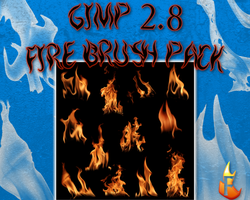 Gimp Fire Brush Pack by Flame2057