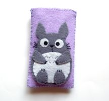 Purple Totoro iphone case by yael360