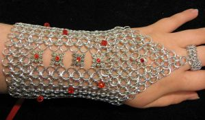 Red Crystal Bracer by JadedDragonRI