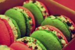 Candy Cane Macarons by Speechlessly