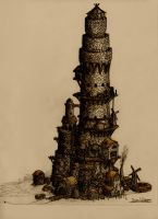 Colored Tower by LordMordrek