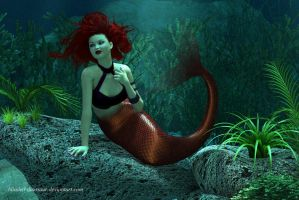 Miss Mandy Mermaid (1 of 2) by blinded-dinosaur