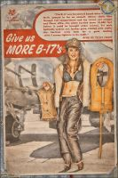 Propaganda Pinups - Give us more B-17's by warbirdphotographer