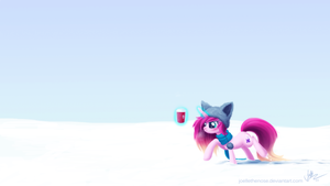 Trudging Through a Winter Wonderland by JoelletheNose