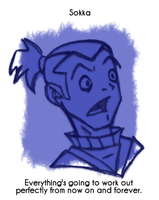 Daily Sketch 30: Sokka by kingofsnake