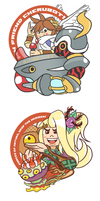 Kid Icarus Stickers by Combotron-Robot