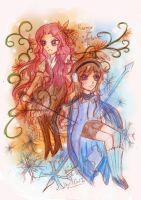 Flowers and Winters by IChiTa--WiYa