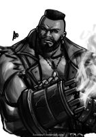 Barret ( Final Fantasy VII The Web Series) by borjen-art