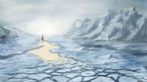 Behind the iceplains by Medhi