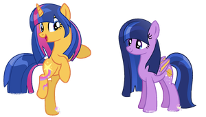 Two more new oc's Stellar Star and Dusk fall by SugarMoonPonyArtist