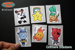 Critters Stickers by Saiya-STORY