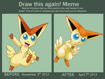 Draw it Again Victini by cinderspark