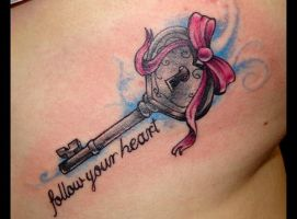 Follow Your Heart Tattoo by SuperSibataru