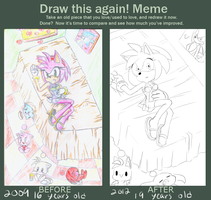 Draw this again amy rose by zeldaprincessgirl100