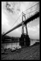 St. Johns Bridge - BW by futureplug