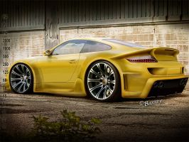 Porsche 997 YELLOW by BarneyHH