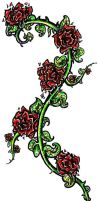 Tattoo design: JP's Roses by shazam26