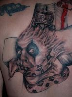 Alice Face Back Tattoo session 2 by CrazeeAce