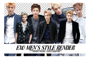 20131128. EXO Men's Style Render Pack by LonaSNSD