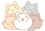 Colorfur Pile of Cats by Daieny