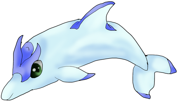 Dolphin fakemon -1- by Cinnamon-Quails