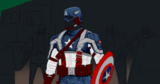 Day 288-Captain America WIP 3 by Dan21Almeida95