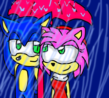 .:Contest Entry:.Sonamy Date in rain by amyainrose