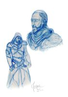 AC:R - Old Ezio doodles by Anshealyn