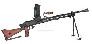 Nambu Type 99 Machine Gun by stopsigndrawer81