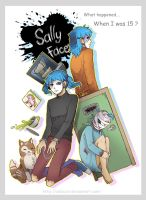Game Sally Face fanart by DeluCat