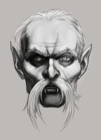 Dracula face sketch by KatLouhio