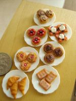 Miniature Bakery Goods 1-12 by Snowfern