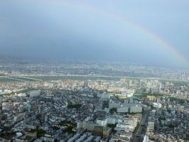 'Thirty' Japanese Pics - Rainbow Over Tokyo by LordNobleheart