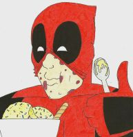 Deadpool Ice Cream by Leo504
