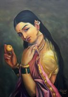Lady Holding Fruit by visualxscape