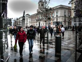 Sunless Puerta del Sol in Madrid - to Igal by Rikitza
