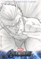 Avengers Assemble Sketchcard - Quicksilver by theopticnerve