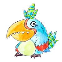 Monster of the Day #1022 Stressed Tropical Bird Mo by jurries21