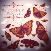 Free Gorgeous Butterfly Brus Set by Romenig