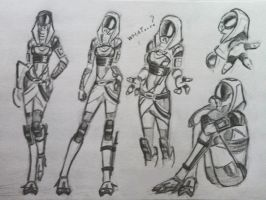 sketches Tali (36) by spaceMAXmarine