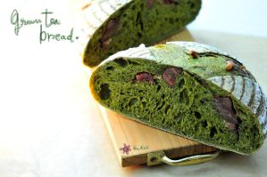 Green tea bread by akemiM
