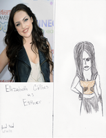 Elizabeth Gillies as Esther by Jred20