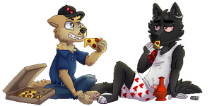 Pixel Pizza by Mana-ghostwolf