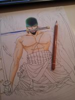 Roronoa Zoro (Work in progress) by atta9
