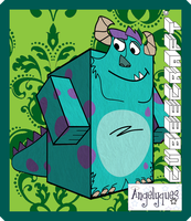 """Sulley"" Sullivan Cubeecraft by angelyques"