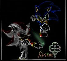 sonic and shadow  ad hoc by Fission07