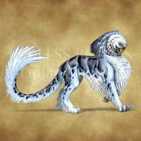Endless Realms bestiary - Owlion by jocarra