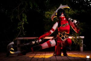 Crimson Akali - Fist Of Shadows by Mandi180sx