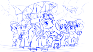 Beyond Equestria New Cover (sketch) by NiegelvonWolf
