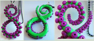 Tentacle infinity purple and green by KTOctopus